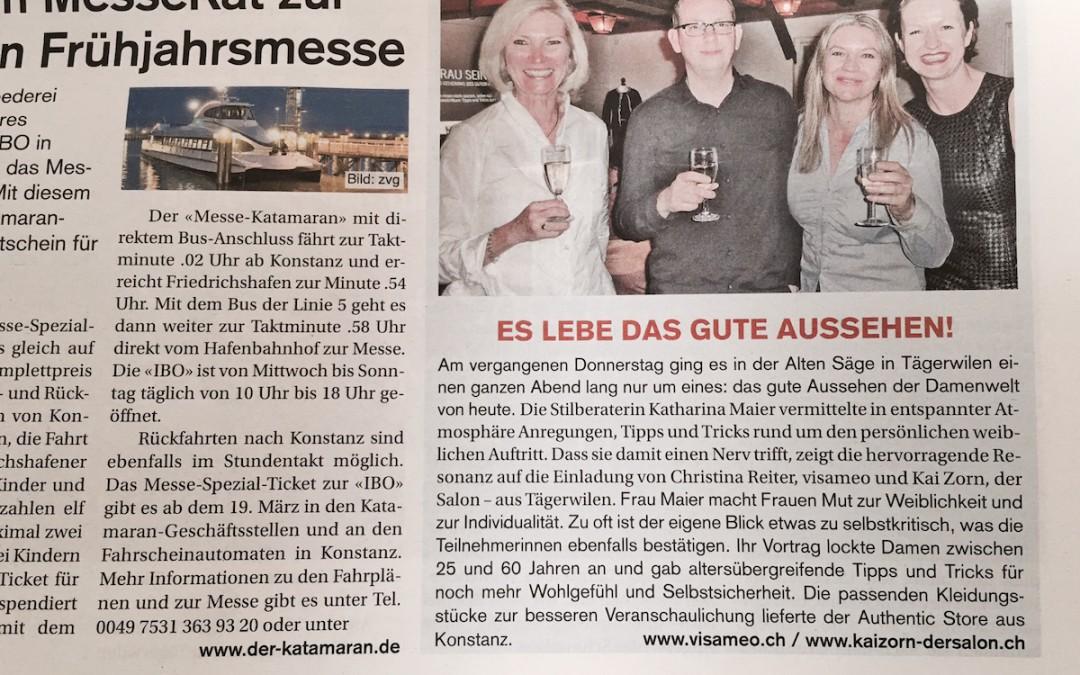 Es lebe das gute Aussehen! Kreuzlinger Zeitung, März 2014